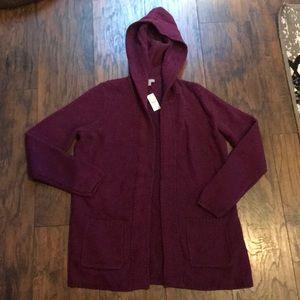 Talbots Hooded Sweater Cardigan